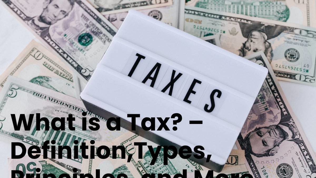 What is a Tax? – Definition,Types, Principles, and More