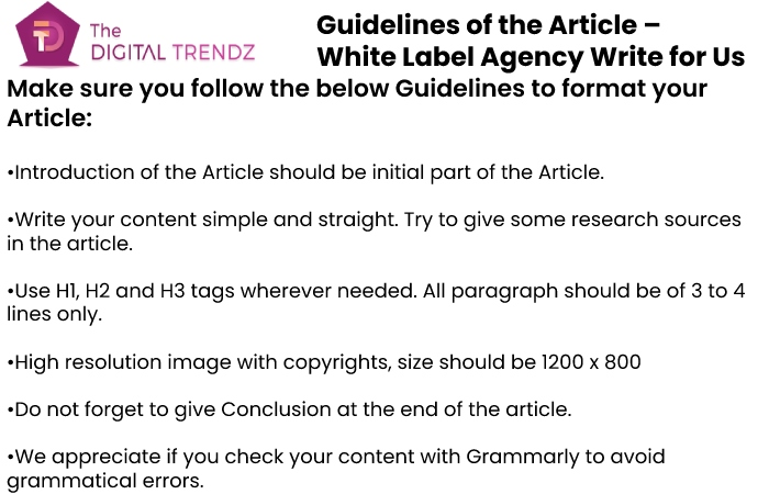 Guidelines for the article thedigitaltrendz
