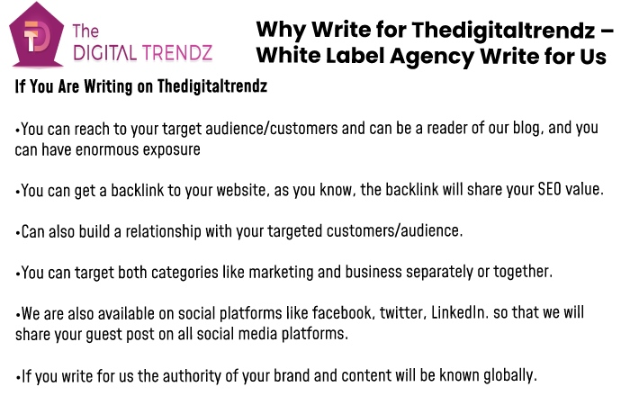 Why write for us thedigitaltrendz